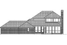 Traditional Exterior - Rear Elevation Plan #84-389