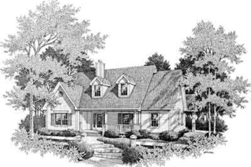 Farmhouse Style House Plan - 4 Beds 3 Baths 2555 Sq/Ft Plan #14-231 Exterior - Front Elevation