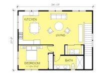 Ranch Floor Plan - Upper Floor Plan Plan #888-11