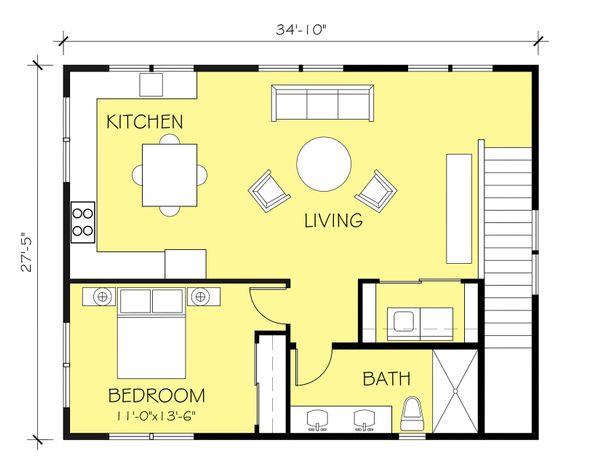Ranch Floor Plan - Upper Floor Plan #888-11