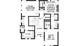 Contemporary Floor Plan - Upper Floor Plan Plan #48-656