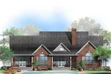 Country Exterior - Rear Elevation Plan #929-354