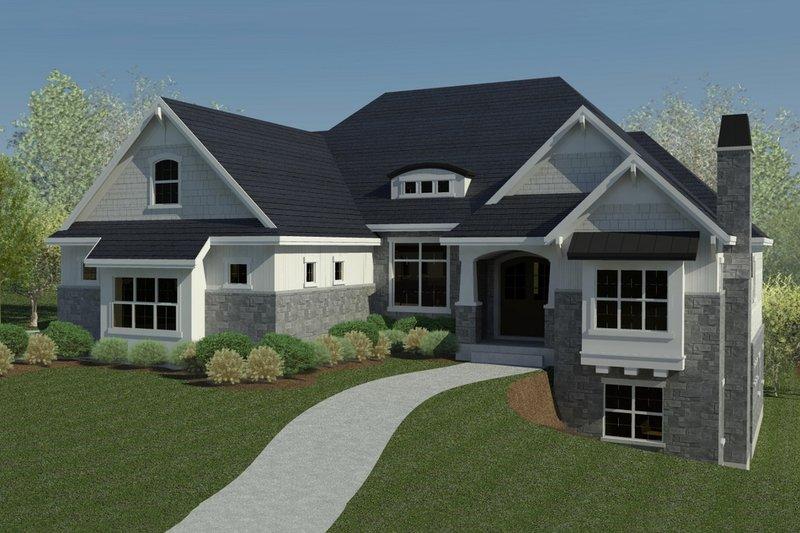 Dream House Plan - Craftsman Exterior - Front Elevation Plan #920-48