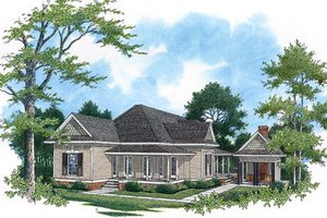 Traditional Exterior - Front Elevation Plan #45-336