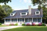 Farmhouse Style House Plan - 3 Beds 2 Baths 1982 Sq/Ft Plan #923-107 Exterior - Rear Elevation