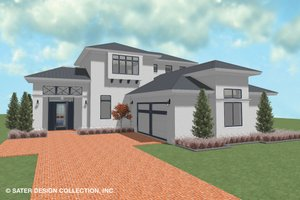Contemporary Exterior - Front Elevation Plan #930-521