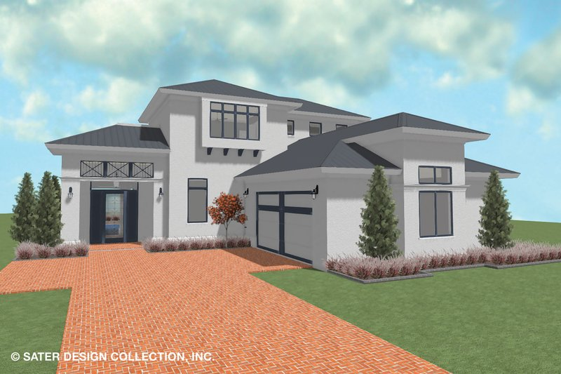 Home Plan - Contemporary Exterior - Front Elevation Plan #930-521