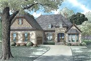 European Style House Plan - 4 Beds 3 Baths 2546 Sq/Ft Plan #17-2482 Exterior - Front Elevation