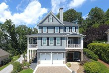 Southern Exterior - Front Elevation Plan #437-57
