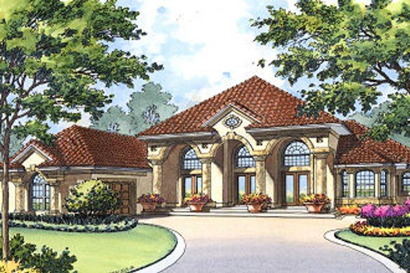 Dream House Plan - Mediterranean Exterior - Front Elevation Plan #417-386