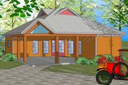 Craftsman Style House Plan - 3 Beds 1.5 Baths 1087 Sq/Ft Plan #8-301 Exterior - Front Elevation