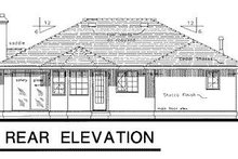 House Blueprint - Ranch Exterior - Rear Elevation Plan #18-134