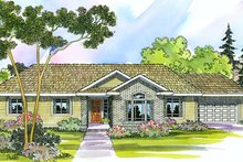 Ranch Exterior - Front Elevation Plan #124-394