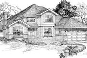 Traditional Style House Plan - 4 Beds 2.5 Baths 2423 Sq/Ft Plan #47-435 Exterior - Front Elevation