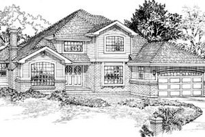 Traditional Exterior - Front Elevation Plan #47-435