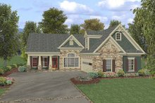 Dream House Plan - Craftsman Exterior - Front Elevation Plan #56-550
