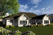 Ranch Style House Plan - 3 Beds 2.5 Baths 2840 Sq/Ft Plan #70-1281 Exterior - Rear Elevation