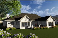 Home Plan - Ranch Exterior - Rear Elevation Plan #70-1281