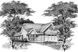 European Exterior - Front Elevation Plan #329-157