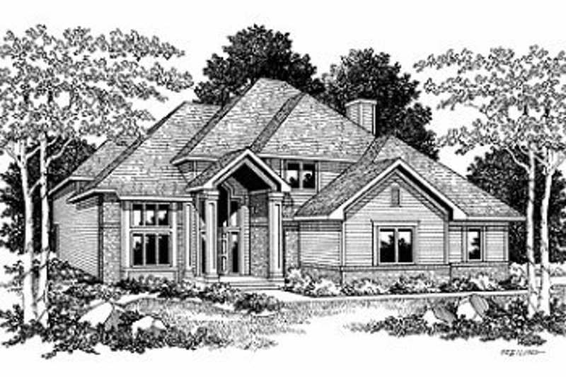 Traditional Exterior - Front Elevation Plan #70-394 - Houseplans.com