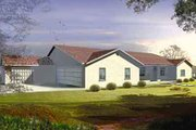 Ranch Style House Plan - 5 Beds 3.5 Baths 3526 Sq/Ft Plan #1-847 Exterior - Front Elevation