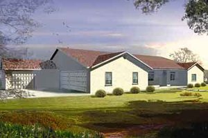 Ranch Exterior - Front Elevation Plan #1-847