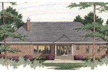 Dream House Plan - European Exterior - Rear Elevation Plan #406-292