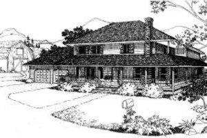 Country Exterior - Front Elevation Plan #303-120