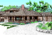 Traditional Style House Plan - 4 Beds 2 Baths 3112 Sq/Ft Plan #60-179 Exterior - Front Elevation
