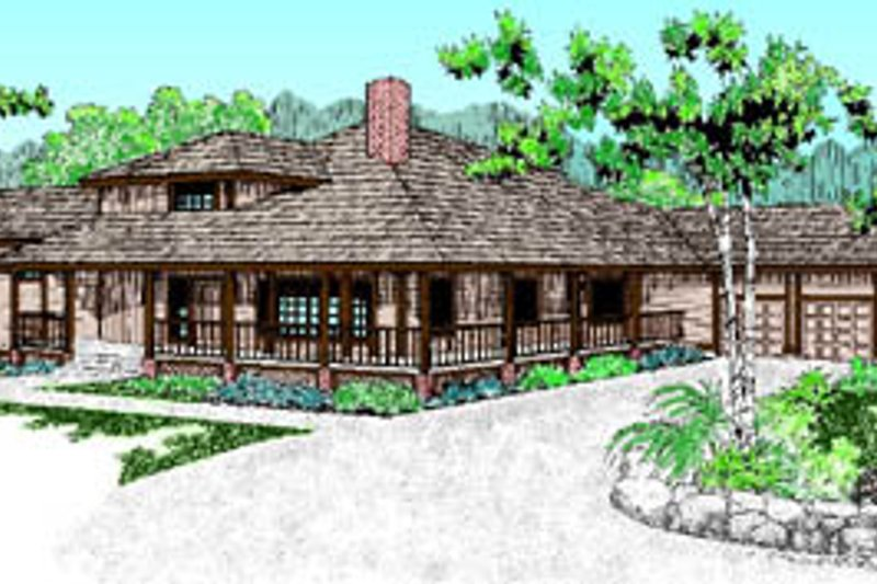 Traditional Exterior - Front Elevation Plan #60-179 - Houseplans.com