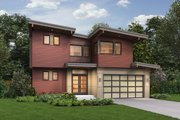 Contemporary Style House Plan - 4 Beds 3.5 Baths 2126 Sq/Ft Plan #48-656 Exterior - Front Elevation