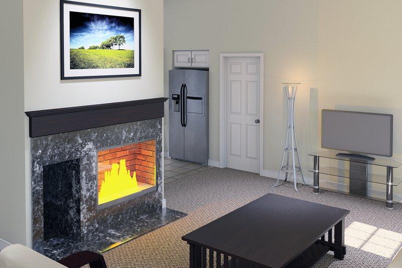 Ranch Interior - Family Room Plan #57-114 - Houseplans.com