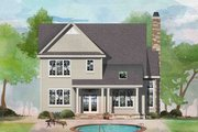 Traditional Style House Plan - 3 Beds 2.5 Baths 2653 Sq/Ft Plan #929-1045 Exterior - Rear Elevation
