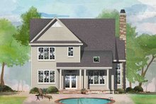 Architectural House Design - Traditional Exterior - Rear Elevation Plan #929-1045