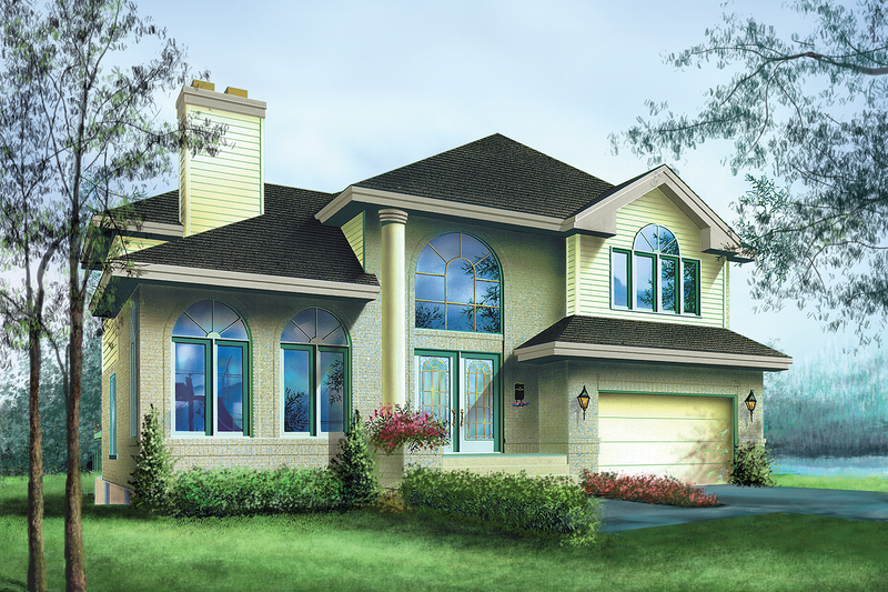 Traditional Style House Plan - 3 Beds 2.5 Baths 2567 Sq/Ft Plan #25-2212 Exterior - Front Elevation