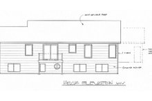 Traditional Exterior - Rear Elevation Plan #58-191