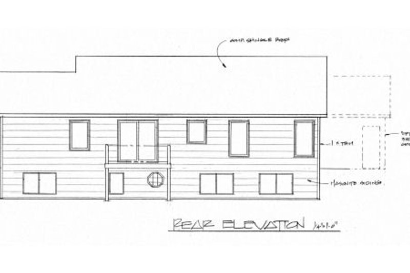 Traditional Exterior - Rear Elevation Plan #58-191 - Houseplans.com