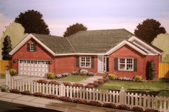 Traditional Exterior - Front Elevation Plan #513-20