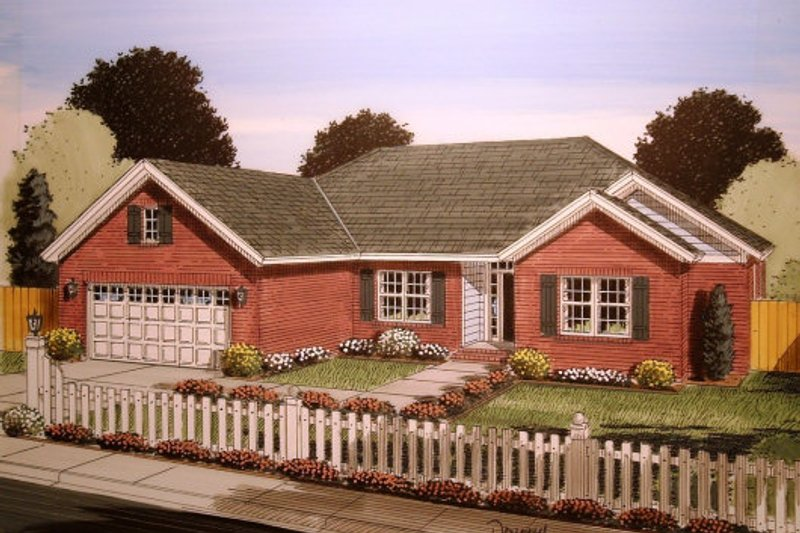 Traditional Exterior - Front Elevation Plan #513-20 - Houseplans.com