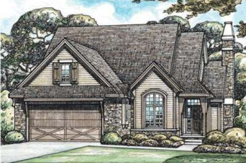 European Exterior - Front Elevation Plan #20-1819 - Houseplans.com