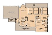 Ranch Style House Plan - 4 Beds 2.5 Baths 3332 Sq/Ft Plan #515-9 Floor Plan - Main Floor Plan