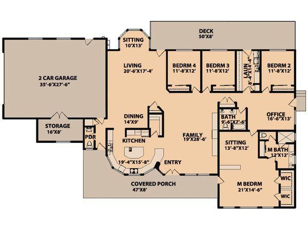 Ranch Floor Plan - Main Floor Plan Plan #515-9
