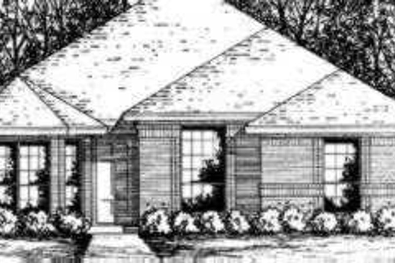 Traditional Style House Plan - 3 Beds 2 Baths 1182 Sq/Ft Plan #40-281