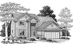 Traditional Exterior - Front Elevation Plan #70-302