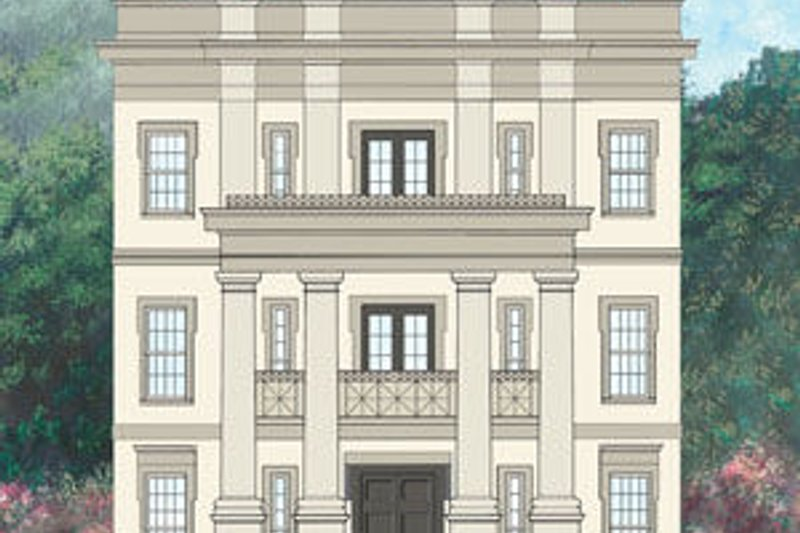 Classical Style House Plan - 4 Beds 3.5 Baths 3265 Sq/Ft Plan #119-343 Exterior - Front Elevation