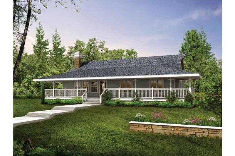 Farmhouse Exterior - Front Elevation Plan #47-647 - Houseplans.com