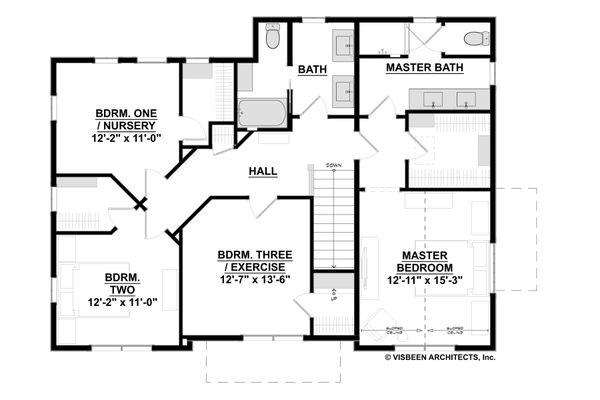 Traditional Floor Plan - Upper Floor Plan #928-349