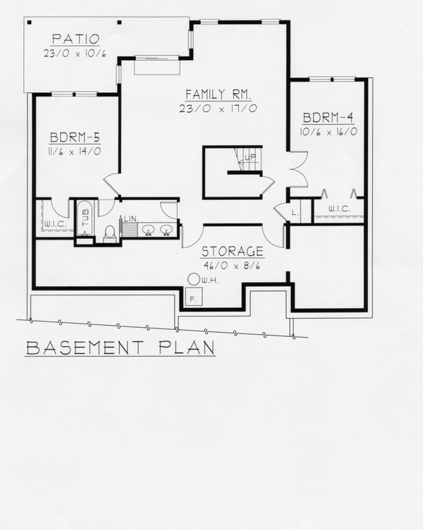 House Plan Design - Craftsman Floor Plan - Lower Floor Plan #112-162