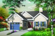 Traditional Style House Plan - 3 Beds 1 Baths 1393 Sq/Ft Plan #23-348