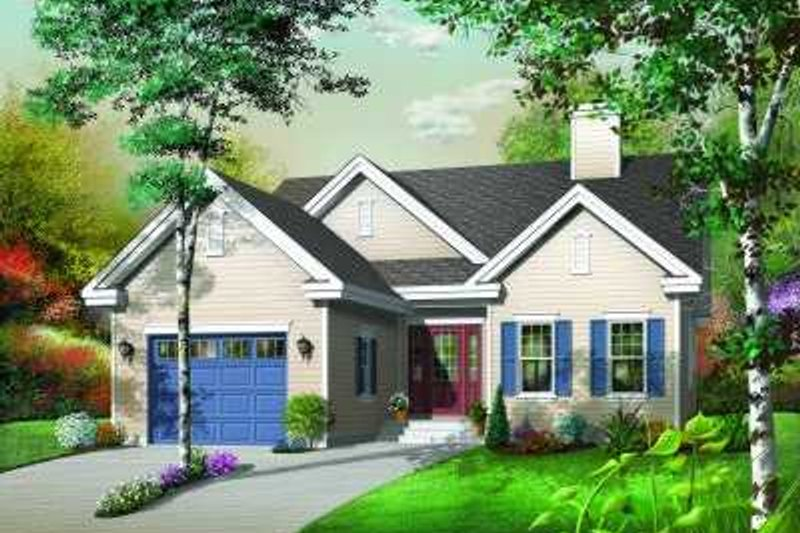 Home Plan - Traditional Exterior - Front Elevation Plan #23-348